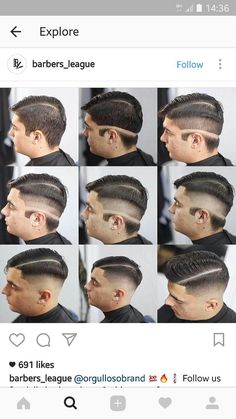 Very cool way to keep things in order - gutaussehend Barber Haircuts, Haircuts For Men, Barber Tips, Stylist Quotes, Hair And Beard Styles, Hair Styles, Hair Cutting Techniques, Gents Hair Style, Shaved Hair Designs