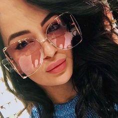 368b328d3a  sunglasses OUTEYE Brand Designer Metal Frame Women Square Sunglasses  Fashion Oversized Female Mirror Sun Glasses