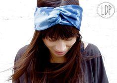 BIO+Headband+Turban+style+batik+blau+von+LDP+-+HOMEMADE+auf+DaWanda.com