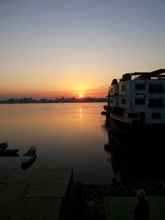 Sunrise from the Nile cruise, Egypt.