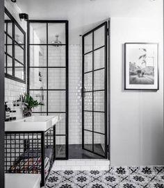 Bathroom Inspiration : Fayola Decor - Decoration For Home Bathroom Renos, White Bathroom, Bathroom Renovations, Bathroom Interior, Home Remodeling, Bathroom Ideas, Modern Bathroom, Bathroom Cabinets, Bathroom Tray