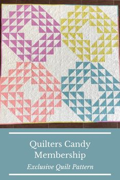 modern geometric quilt pattern, quilting membership, quilt pattern membership, get this pattern for free when you complete projects from the membership