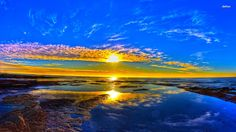 Image for Tropical Beach Sunrise Wallpaper Widescreen