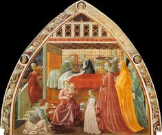 "Paolo Uccello (attrib.) Fresco ""The Nativity of Mary"" (Prato Cathedral)"