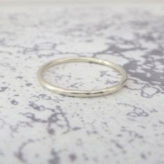 9ct White Gold Wedding Ring  1.2mm Slim White Gold Band