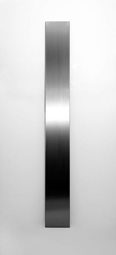 Get Up flat radiator by brand Eskimo, in brushed or polished stainless steel _