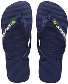 Havaianas Womens Hav Brasil Logo 41108500555356 Navy Blue Rubber Sandals 56  UK 3738 BR >>