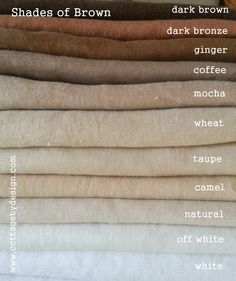 New Wedding Colors Brown Shades 44 Ideas Brown Shades, Color Shades, Shades Of Brown Paint, Colour Pallete, Colour Schemes, Beige Color Palette, Colour Board, Color Stories, Bedroom Colors