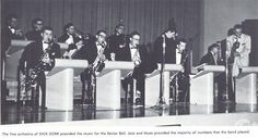 Dick Dorr and his orchestra perform during the 1957 Senior Ball. From the 1957 Oregana (University of Oregon yearbook). www.CampusAttic.com