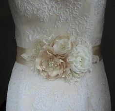 wedding sash flower - Google Search