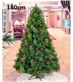 COMTOP 180CM Mini Pinecone + crabapple Mixed Pine needle tree for Christmas decorations a set COMTOP http://www.amazon.com/dp/B00PAK56W2/ref=cm_sw_r_pi_dp_hqvzub1C741AV
