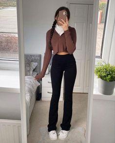 Hoodie Outfit, Pants Outfit, Brown Hoodie, I Need U, Black Jeans, Trousers, Hoodies, My Style, Hair Styles