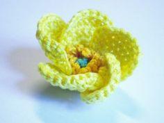 Buttercup flower crochet pattern