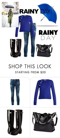 """""""rainy day"""" by icesshailie ❤ liked on Polyvore featuring Dsquared2, Altuzarra and Hunter"""