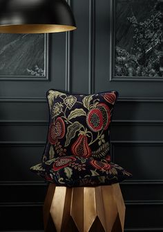 Based around archive designs reminiscent of motifs from the Arts and Crafts Movement. Drapery Fabric, Curtains, Peter Lee, Arts And Crafts Movement, Indigo, Upholstery, Throw Pillows, Vintage, Inspiration