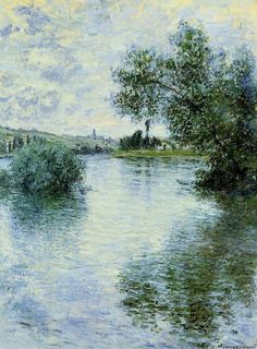 "Claude Monet - La Seine à Vétheuil, 1879. Oil on canvas. 81 x 60 cm (31.9"" x 23.6"") — Musée des Beaux-Arts de Rouen (France)"