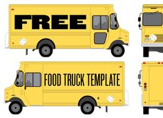 Food Truck Wrap Template by Studiofluid. . . fun idea for Adv Illustrator class to design food truck graphics