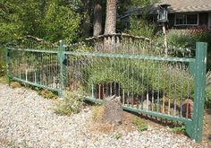 Recycled Metal Projects - golf club fence