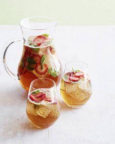 Strawberry Basil Iced Tea Sparkler