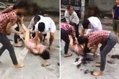 Scorned Wife Strips 'Husband's Mistress' Nked Then Cuts Her Hair After Catching Them In Bed Together