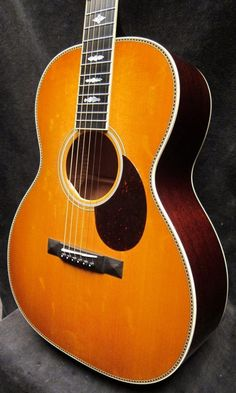 Santa Cruz Guitar Company, custom H/13 Mahogany/Bear Claw Sitka with custom inlays, buttered toast sunburst top