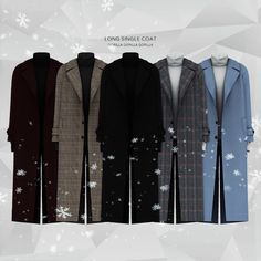 Long Single Coat for The Sims 4 Un abito (noto anche come abito. Sims 4 Cc Packs, Sims 4 Mm Cc, Sims Four, Sims 4 Men Clothing, Sims 4 Male Clothes, Sixpack Workout, Destroyed T Shirt, Sims 4 Collections, Sims4 Clothes