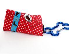 Mini Triangle Clean Up Bag / Blue Dachshund Doxie by daydogdesigns, $9.00
