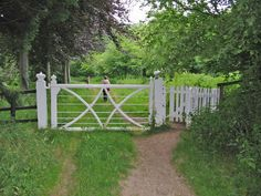 File:Gate on woodland path Moor Crichel Dorset - geograph.org.uk - 187826.jpg