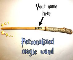 etsy, harry potter, and personalized wand image