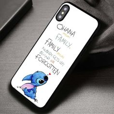 Ohana Means Family, Lilo And Stitch, Disney Princess - iPhone X 8  7 6s SE Cases & Covers #cartoon #disney #liloandstitch #stitch #quote #iphonecase #phonecase #phonecover #iphone7case #iphone7 #iphone6case #iphone6 #iphone5 #iphone5case #iphone4 #iphone4case #iphone8case #iphoneXcase #iphone8plus