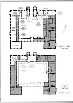 floorplan - Oxburgh House, Norfolk (begun 1482) a moated manor house
