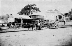Benjamin Piggott's Blacksmith store in East Kempsey in northern New South Wales in 1900.The store was located overlooking the approaching to the first Kempsey Traffic Bridge.