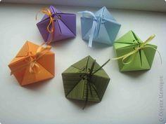 Мастер-класс Оригами: Еще коробочки в мою коллекцию. Бумага, Ленты. Фото 1