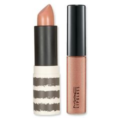 MAC's Lipglass in Naked Space $16 Topshop lipstick in Nevada $16