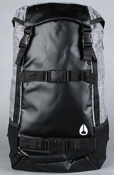 The Landlock Backpack in Black Wash by Nixon