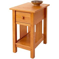 Mission Side Table by Manchester Wood Mission Furniture, Furniture Making, Living Room Furniture, Living Room Necessities, Kitchen Necessities, Small Space Living, Small Spaces, Furniture Cleaner, Wholesale Furniture