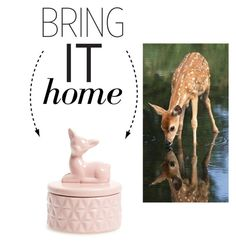 """""""Bring It Home: Ceramic Deer Box"""" by polyvore-editorial ❤ liked on Polyvore featuring interior, interiors, interior design, home, home decor, interior decorating, DCI and bringithome"""