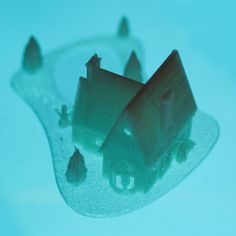 3D printed Christmas House With frozen pond, Mathi_