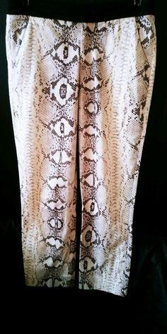 Zara Trafaluc Women's Snakeskin Print Brown Grey Black Legging Size 26 S 4    eBay