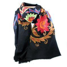 100% Wollen Sjaal Folklore -