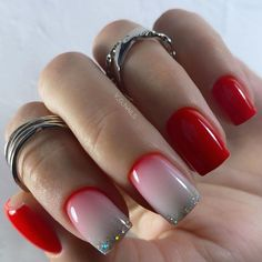 Subtle Nail Art, Short Square Nails, Nail Art Videos, Simple Nail Designs, How To Make Hair, Red Nails, Acrylic Nails, Nail Polish, Beauty