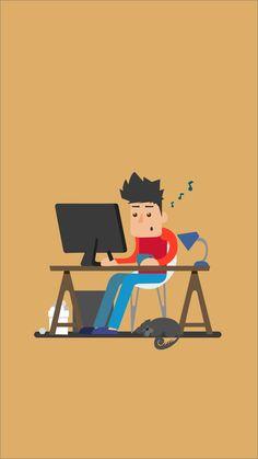 #workFromHome  #Ilustracion #Vectores #DiseñoGrafico #MiPerroSeLlamaBruno #Dibujo