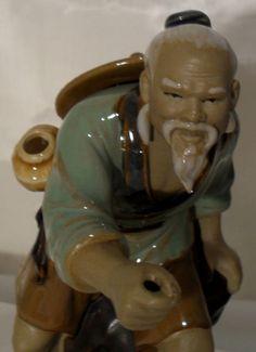 Chinese  Shiwan Mud-men Antique Fisherman Figurine