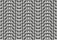 Geometric monochrome pattern Art Print