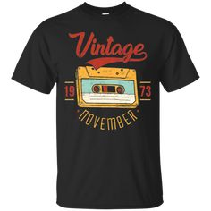 Vintage Retro November 1957 Birthday T-shirt Vintage Tee Shirts, Tee Shirt Designs, December, Retro Vintage, Vintage Tags, Vintage Style, Cassette Tape, T Shirts For Women, Tees