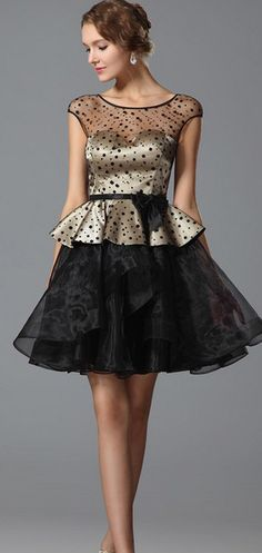 Stylish Polka Dots Dress.