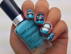 THE FAULT IN OUR STARS NAIL POLISH!!!!! I CANT WAIT TO SEE THE MOVIE!!!!!!!<3