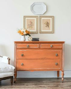 """@missmustardseed  -  Say """"hello"""" to Outback Petticoat, our newest @mmsmilkpaint color! I must say, orange is very photogenic!  And, we're giving away a few bags with your choice of MMS finish on the @mmsmilkpaint  Instagram account. Click over to enter.  See this full dresser transformation on the blog (link in profile.) #mmsmilkpaint #outbackpetticoat #giveaway #proveyourselfwrong #orange #paintedfurniture  -  https://www.instagram.com/p/BPYAdPkjptd"""