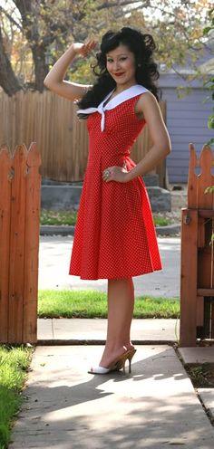 Red sailor #dress
