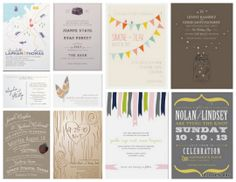 {Lovely Giveaway} 75 Flat Wedding Invitations from Minted | Oh Lovely Day